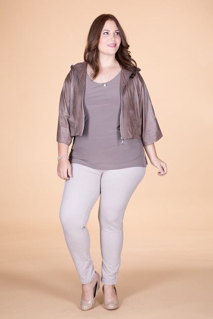 I Love the Nightlife Jacket  - Taupe