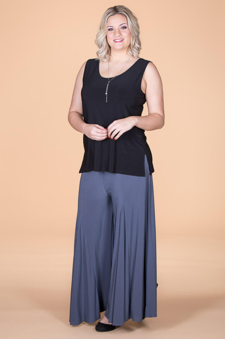 Swing Time Palazzo Pants - Grey