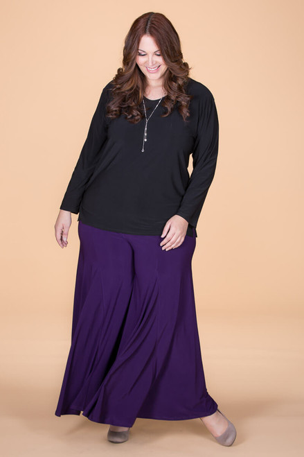 Swing Time Palazzo Pants - Purple