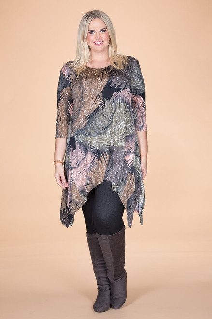 Your Best Foot Forward Tunic - Green Waves Print