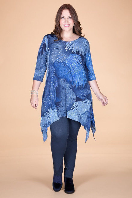 Your Best Foot Forward Tunic - Blue Waves Print