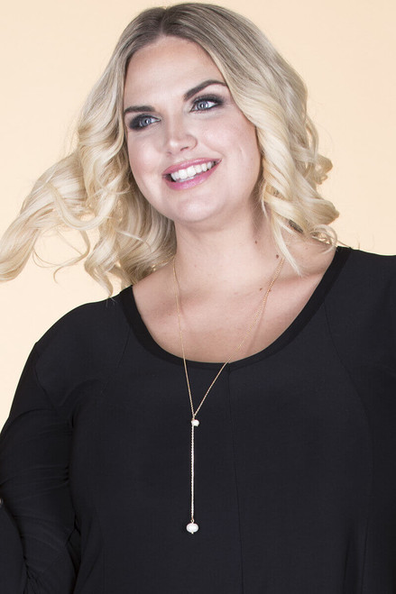 Dainty Pearl Drop Necklace - Gold