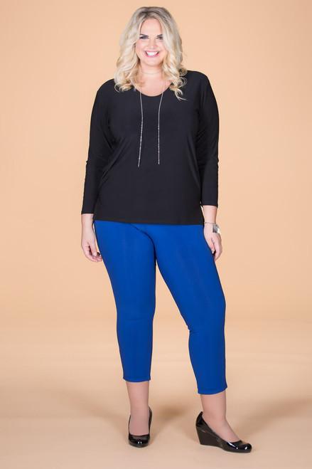 All Buttoned Up Legging - Cobalt Blue