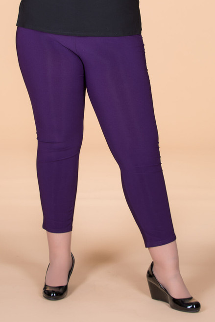 All Buttoned Up Legging - Purple