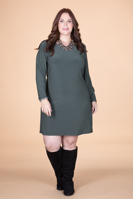 A Multi-Tasker, Just Like Me Dress - Olive