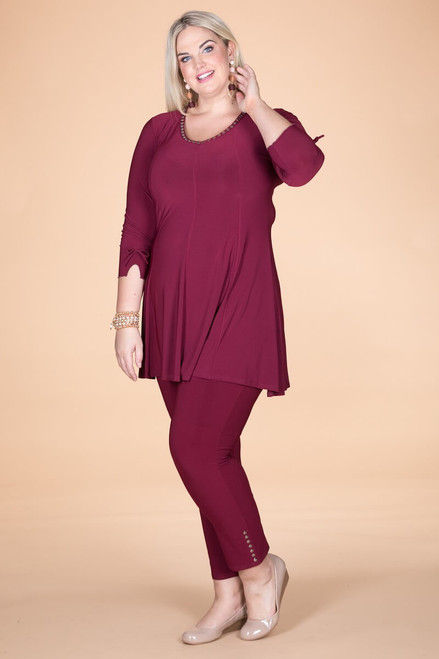Off the Cuff Tunic - Wine