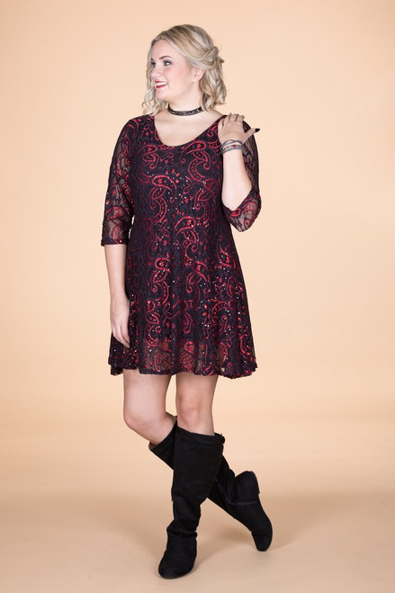 Amazing Things Can Happen Dress - Glitter Paisley Print