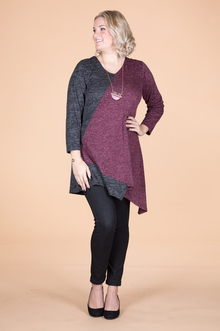 On the Bias Tunic - Wine