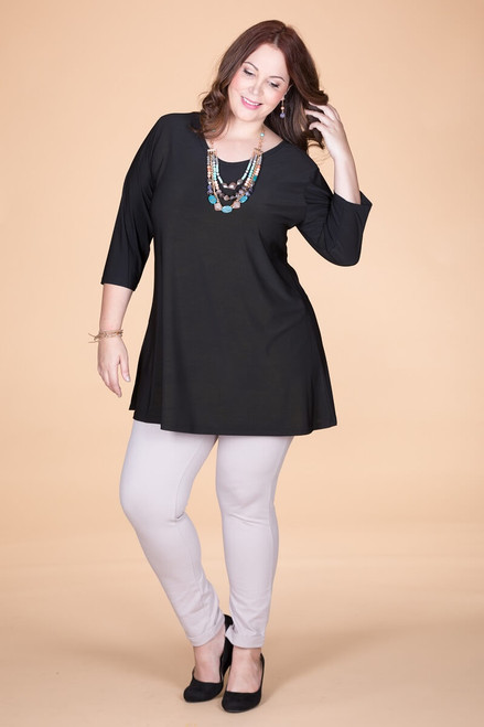 Beautifully Simple Tunic - Black