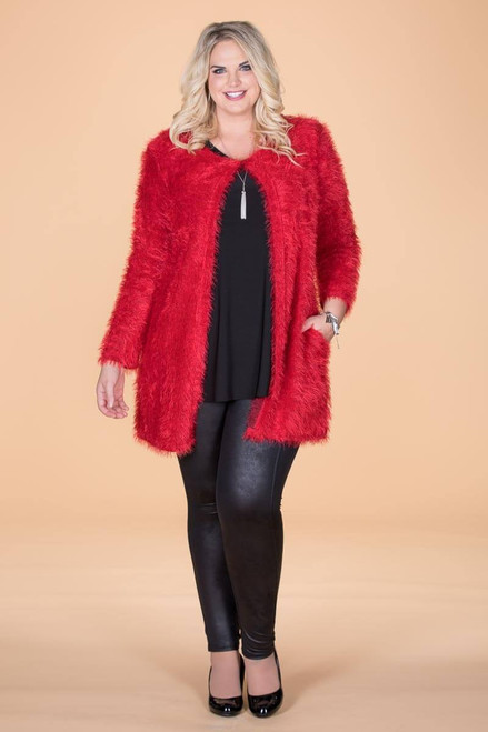 She Wolf Cardigan - Red