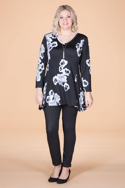 Always Ready Tunic  - Simple Floral Print