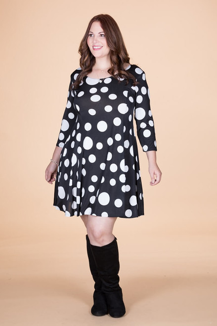 Work Hard, Play Hard Dress - Seeing Spots Print