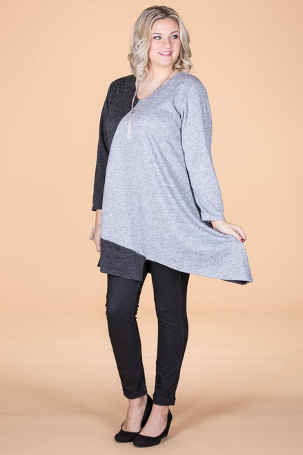 On the Bias Tunic - Steel
