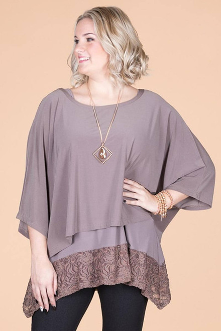 Transformative Solid Layering Top - Taupe