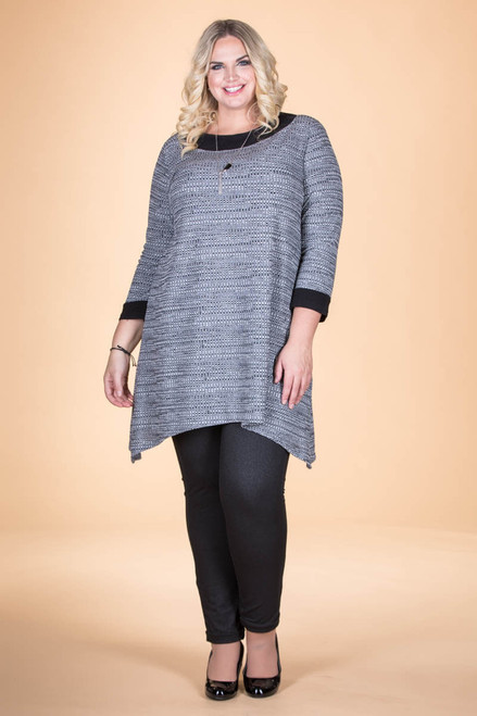 Busy Days, Cozy Nights Tunic- Grey