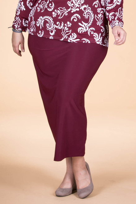 Not Just for Special Occasions Long Skirt - Wine