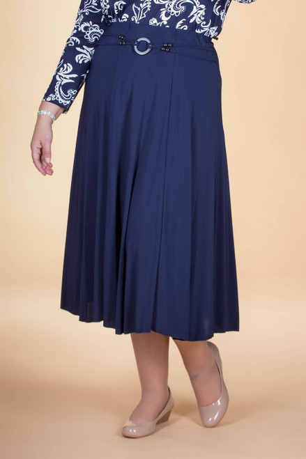 No Time Like the Present Skirt - Navy