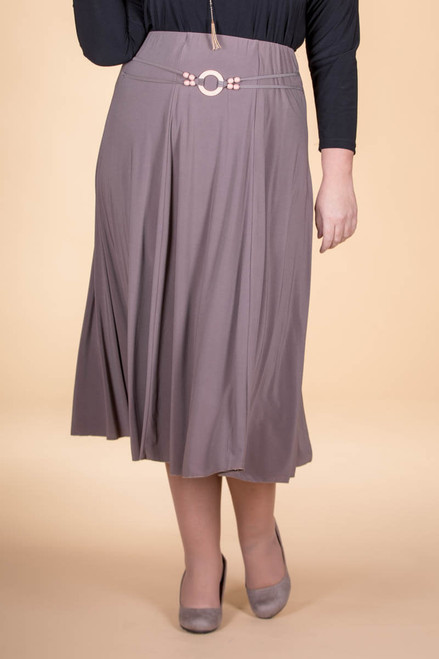 No Time Like the Present Skirt - Taupe