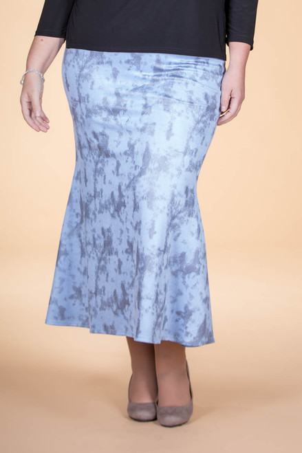 Any Time is the Right Time Skirt- Faux Suede Blue