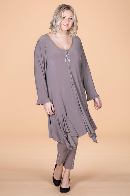 Work From Home Tunic - Taupe