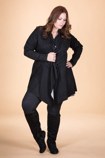 Darling Daring Ruffled Jacket - Black