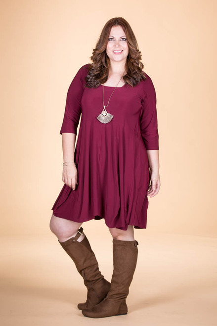 Swing Out Sister Dress - Wine