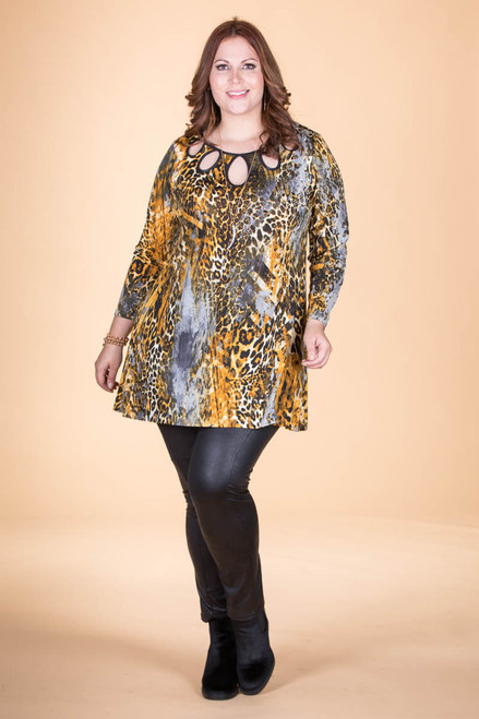 Count on Me Tunic - Oaker Animal Print