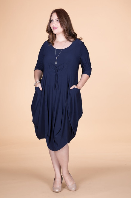 Pleasant Dreams Pocket Dress - Blue