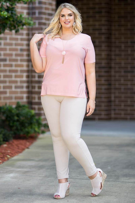 Basic But Never Boring Short Sleeve Shirt - Rosa