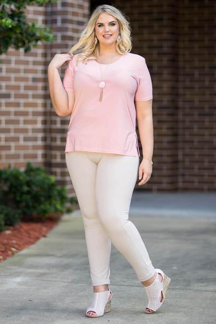 Basic But Never Boring Short Sleeve Shirt - Rosa