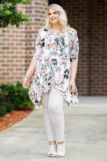 Your Best Foot Forward Tunic - Rosa Hawiian Print