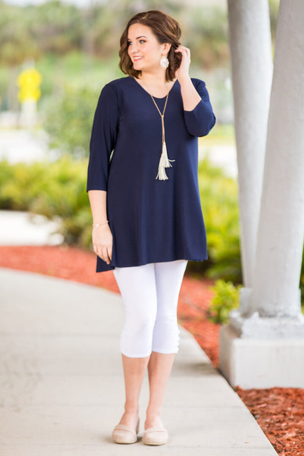 Beautifully Simple Tunic - Blue