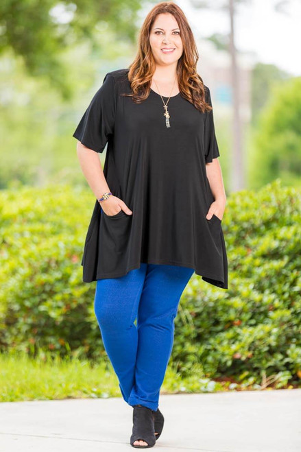 Fair Weather Short Sleeve Tunic - Black