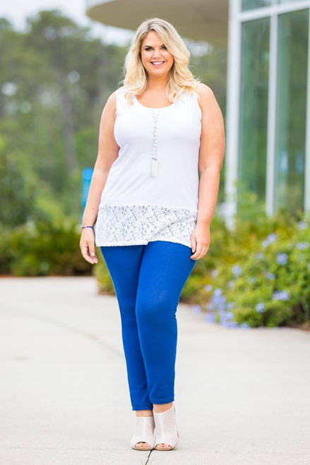 Get a Leg Up Jeggings - Cobalt