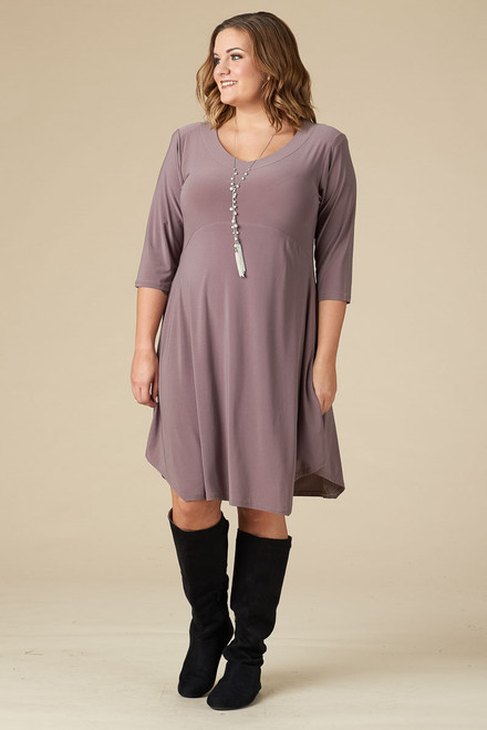 Out For the Night Party Dress - Taupe