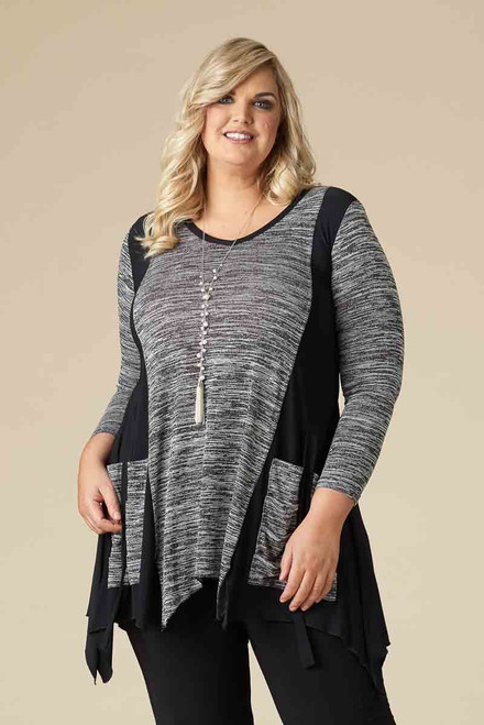 Looking Good Top – Black mélange