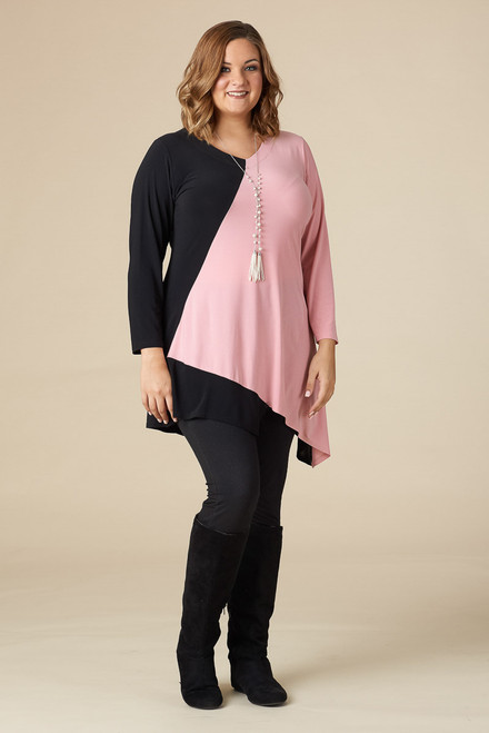 On the Bias Tunic - Rosa