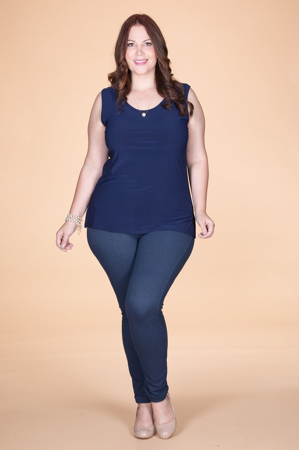 Every Question Answered Sleeveless Top - Blue