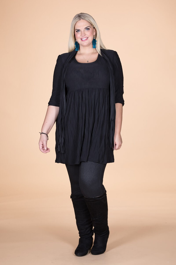 Friends Forever Tunic - Black