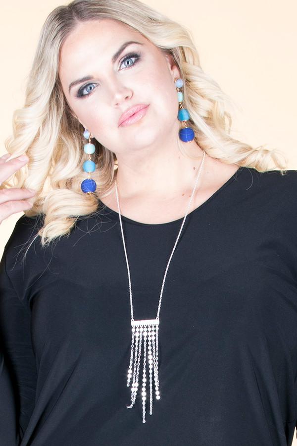 Mini Pendant Chain Lock Tassel Necklace - Silver