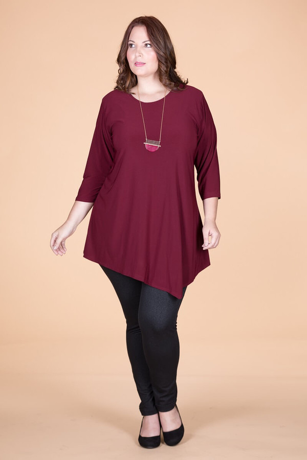 Say it Out Loud Tunic - Wine