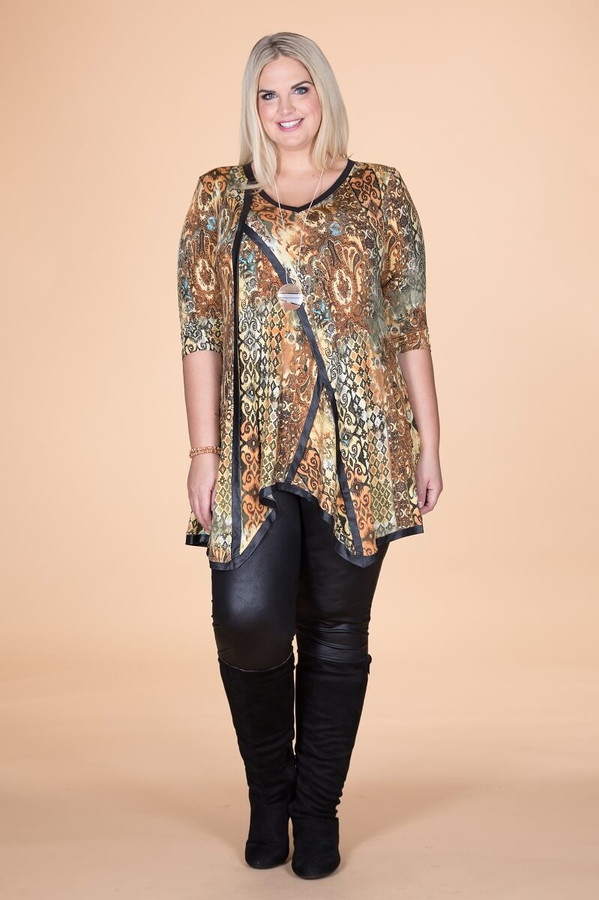 Day into Evening Tunic - Garden Gate Print