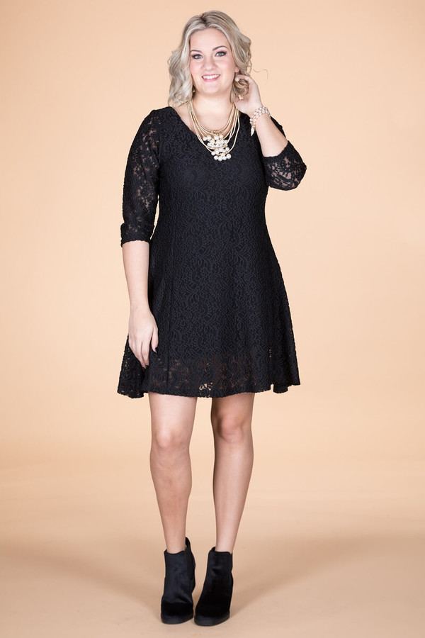 Amazing Things Can Happen Dress - Black Lace
