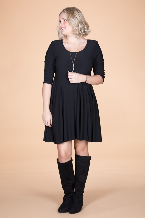 Work Hard, Play Hard Dress - Black