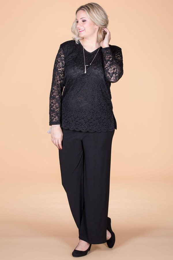 Lacy Does It Top - Black
