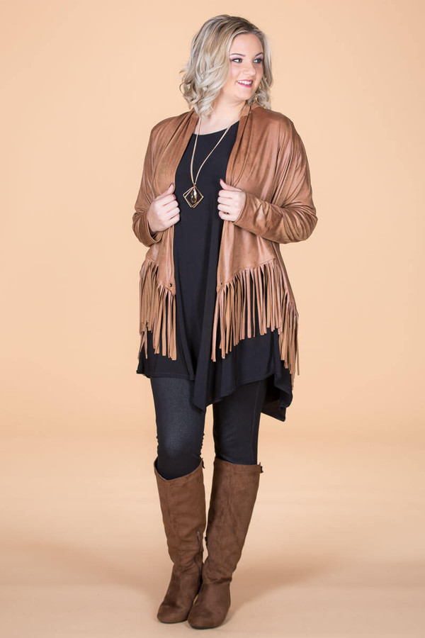 Ready to Take on Anything Fringed Jacket - Oaker