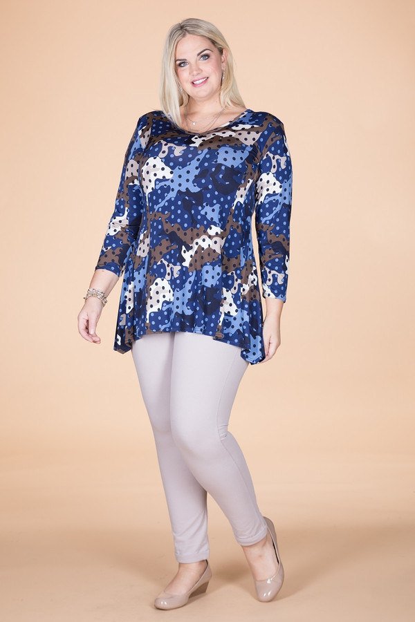 Always Ready Tunic  - Blue Spotted Camo Print