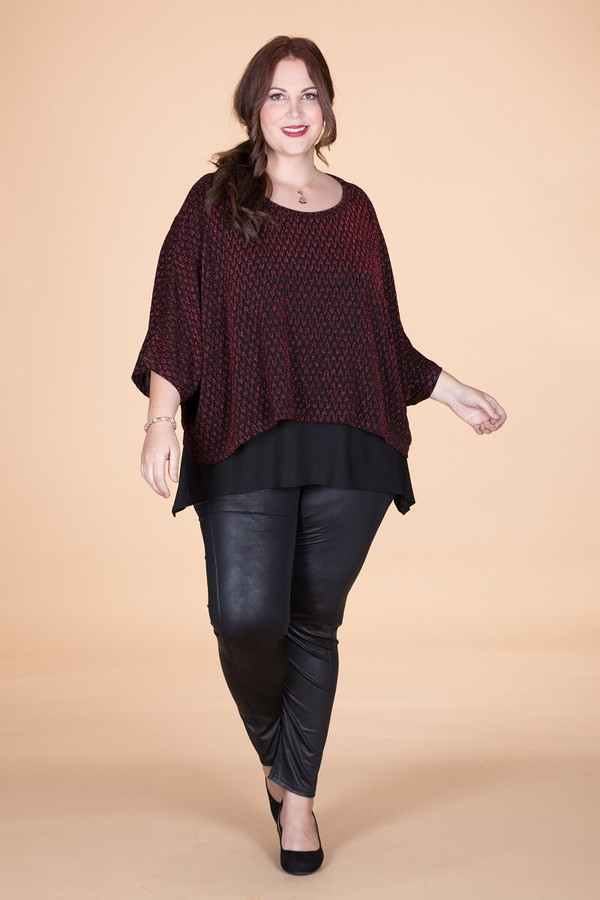 Transformative Sparkle Layering Top - Red Tinsel