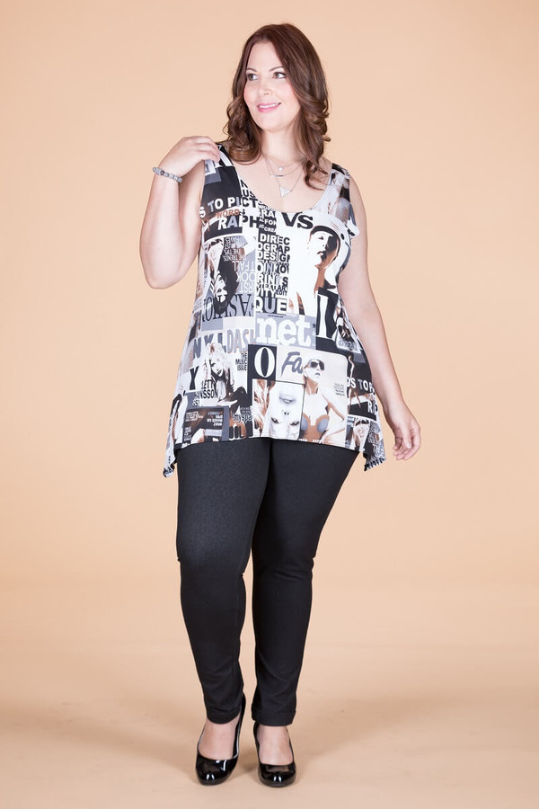 Style Setter Lux Tank - Taupe Magazine Print