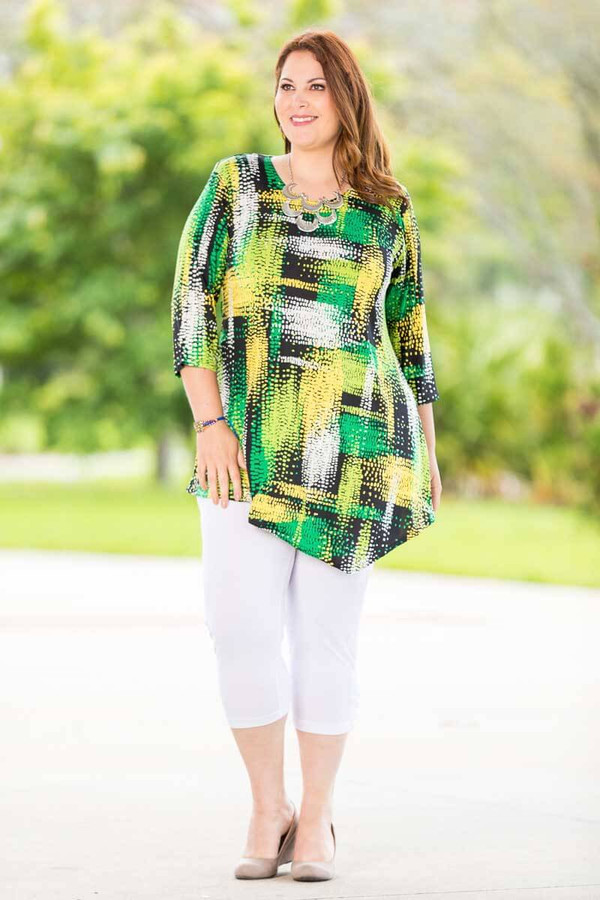 Say it Out Loud Tunic - Clover Print